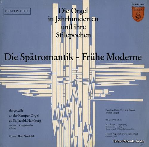 WUNDERLICH, HEINZ die spatromantik-fruhe moderne PSR40521 - front cover