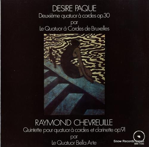 V/A paque; deuxieme quatuor a cordes op.30 DBM-F265 - front cover