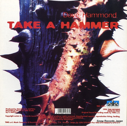DAVE HAMMOND take a hammer TRD1471 - back cover