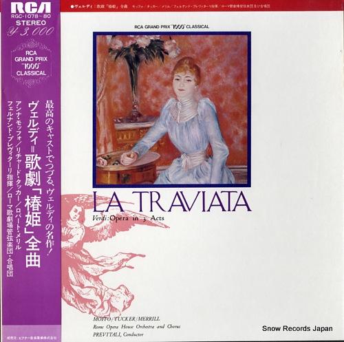 PREVITALI, FERNANDO verdi; la traviata RGC-1078-80 - front cover