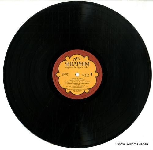 KARAJAN, HERBERT VON handel; arr.harty suite water music, smetana; symphonic poem die moldau from mein waterland AA-5106 - disc