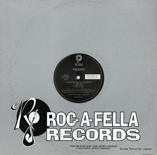 FREEWAY line 'em up / roc the mic (remix) 314582947-1 - front cover