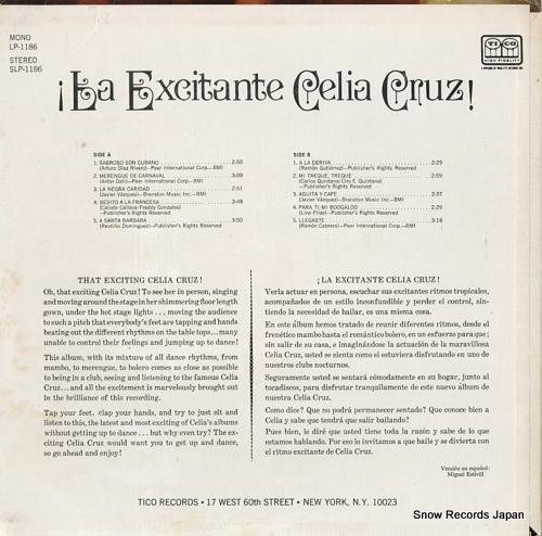 CRUZ, CELIA la excitante celia cruz! SLP-1186 - back cover