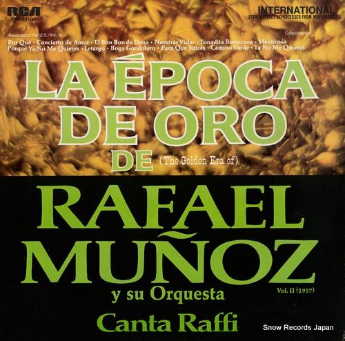 MUNOZ, RAFAEL la epoca de oro de rafael munoz y su orquesta vol.2 (1957) FSP-231 - front cover