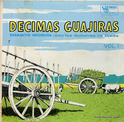 ISIDRON, CHANITO decimas guajiras vol.1 RLP55516 - front cover