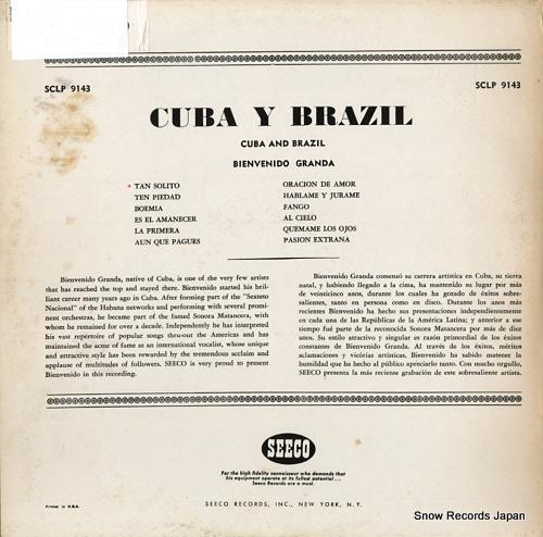 GRANDA, BIENVENIDO cuba y brazill SCLP9143 - back cover