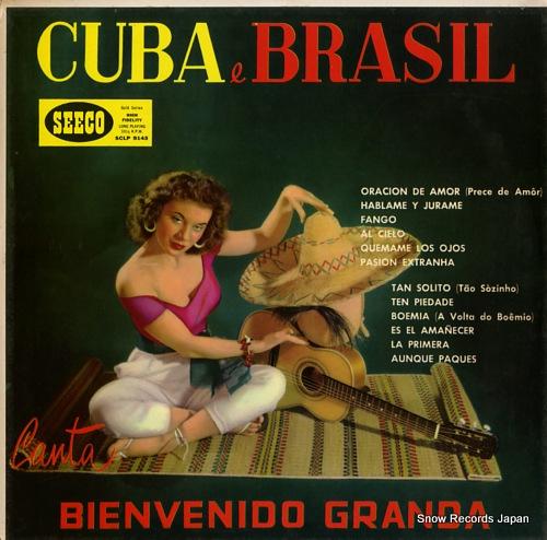 GRANDA, BIENVENIDO cuba y brazill SCLP9143 - front cover