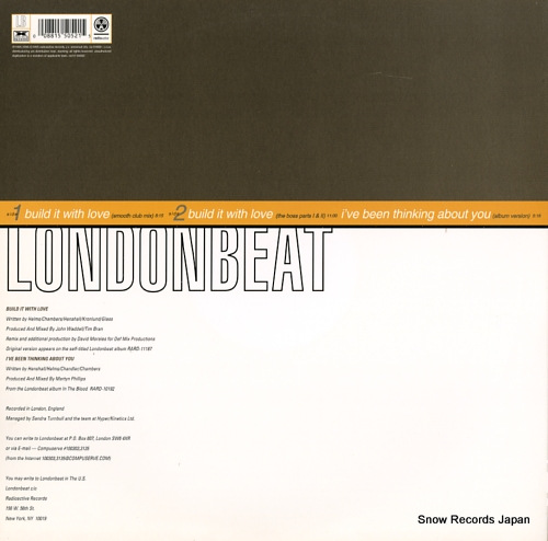 LONDONBEAT build it with love RAR12-55052 - back cover