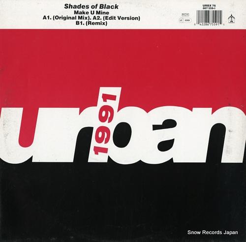 SHADES OF BLACK make u mine URBX76 - front cover