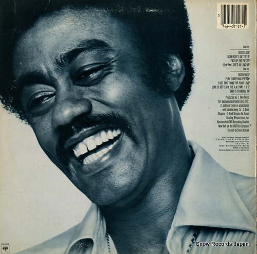 TAYLOR, JOHNNIE the best of johnnie taylor JC37127 - back cover