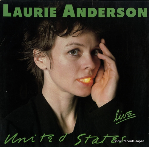 ANDERSON, LAURIE united states live 925192-1 - front cover