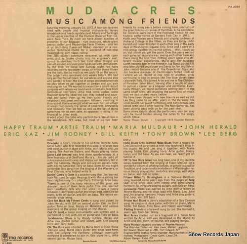 MUD ACRES music among friends PA-3066 - back cover