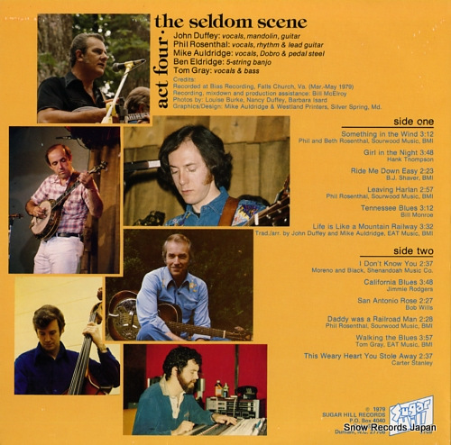 SELDOM SCENE, THE act four SH-3709 - back cover
