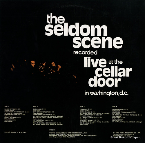 SELDOM SCENE, THE recorded live at the cellar door in washington d.c. GXF6001/2 - back cover