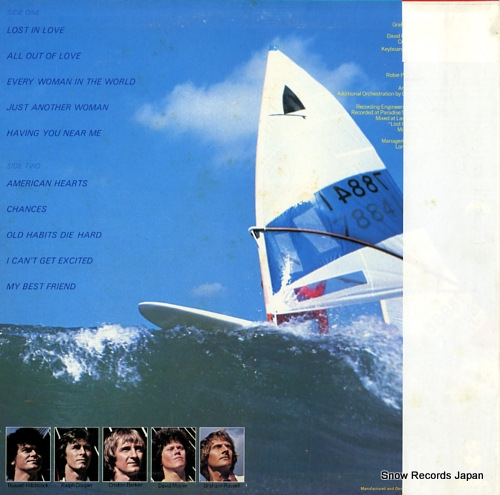 AIR SUPPLY lost in love 25RS-86 - back cover