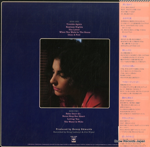 BONOFF, KARLA restless nights 25AP1699 - back cover