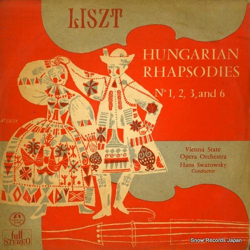 SWAROWSKY, HANS liszt; hungarian rhapsodies no1.2.3.6 SM-2189 - front cover