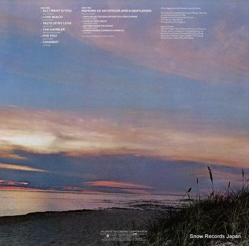 EMERSON, LAKE AND PALMER love beach K50552 - back cover