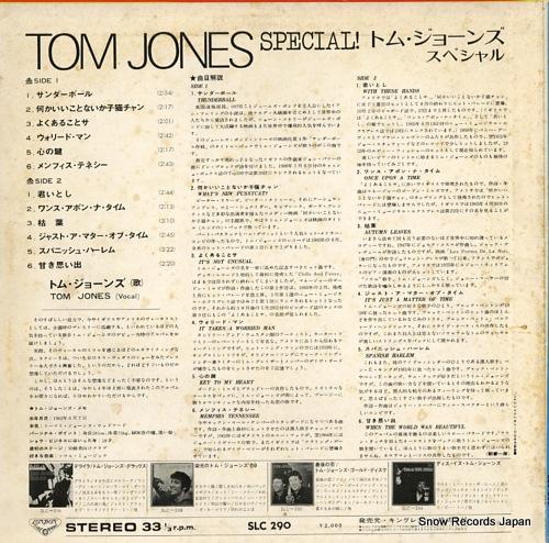 JONES, TOM special SLC290 - back cover