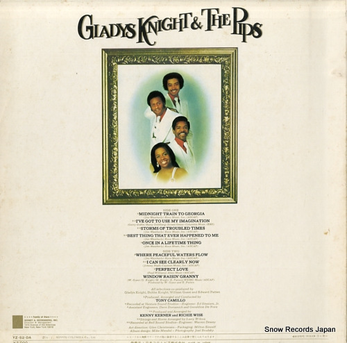 KNIGHT, GLADYS, AND THE PIPS imagination YZ-52-DA - back cover