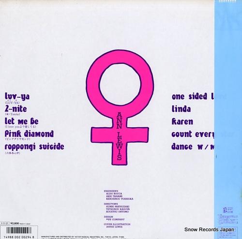 LEWIS, ANN annie's mix '85 SJX-30285 - back cover