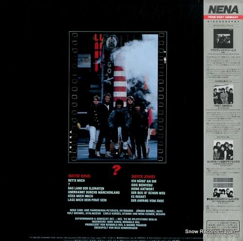 NENA ? (fragezeichen) 28.3P-544 - back cover