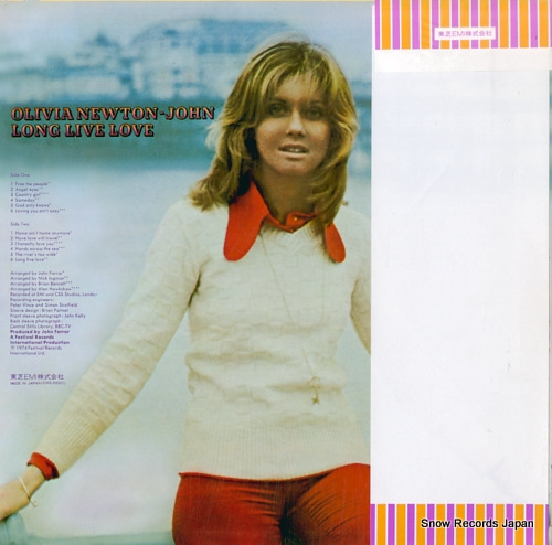 NEWTON-JOHN, OLIVIA long live love EMS-80005 - back cover