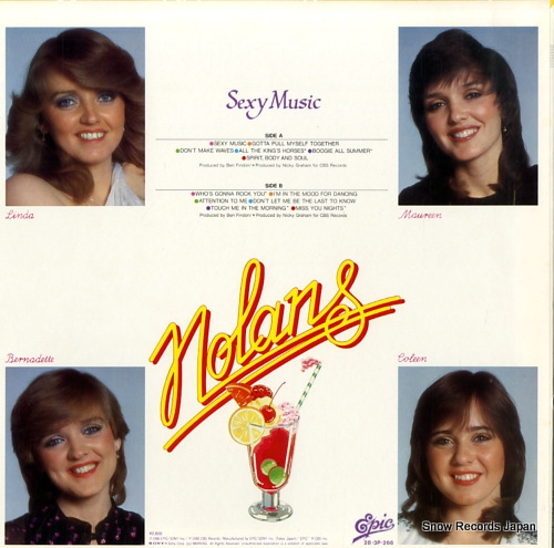 NOLANS, THE sexy music 28.3P-266 - back cover