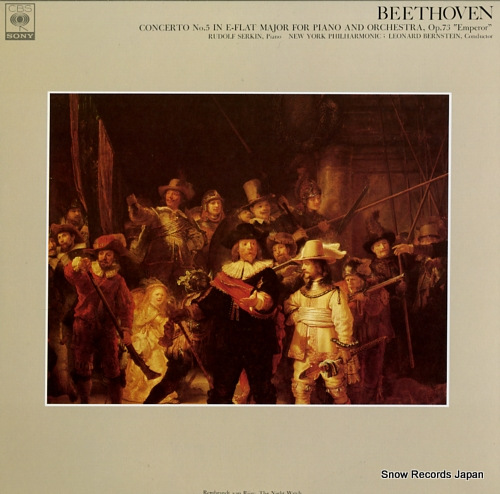 SERKIN, RUDOLF beethoven; concerto no.5 in e-flat major for piano and orchestra, op.73