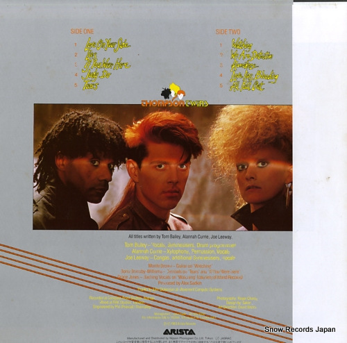 THOMPSON TWINS quick step & side kick 25RS-185 - back cover