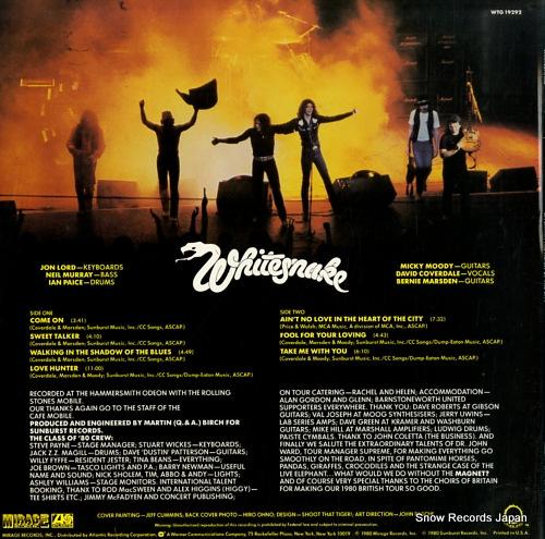 WHITESNAKE live in the heart of the city WTG19292 - back cover