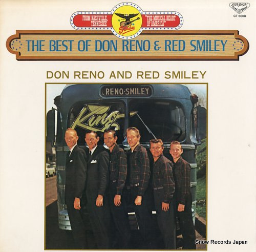 RENO, DON, AND RED SMILEY the best of don reno & red smiley GT6008 - front cover