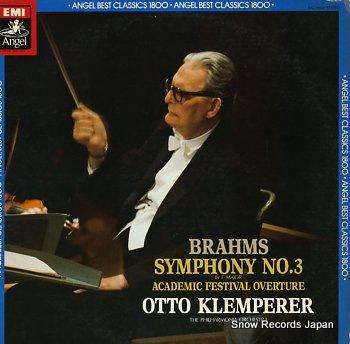 KLEMPERER, OTTO brahms; symphony no.3