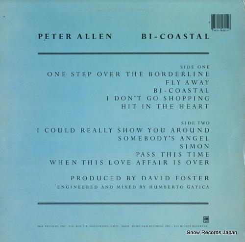 ALLEN, PETER bi-coastal SP-4825 - back cover