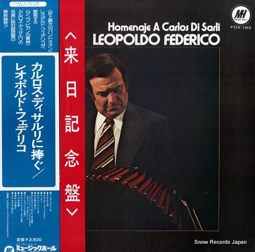 FEDERICO, LEOPOLDO homenaje a carlos di sarli FDX-183 - front cover