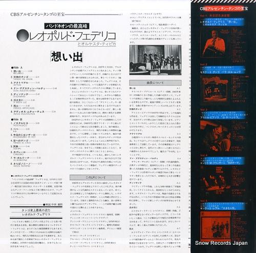 FEDERICO, LEOPOLDO recuerdo ECPM-111 - back cover