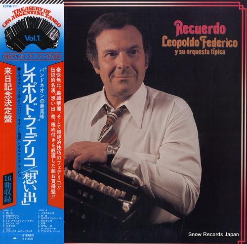 FEDERICO, LEOPOLDO recuerdo ECPM-111 - front cover