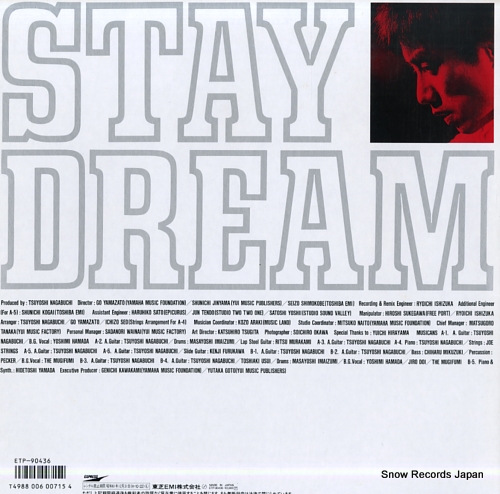 NAGABUCHI, TSUYOSHI stay dream ETP-90436 - back cover