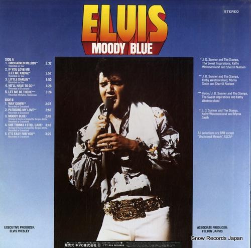 PRESLEY, ELVIS moody blue RVP-6224 - back cover