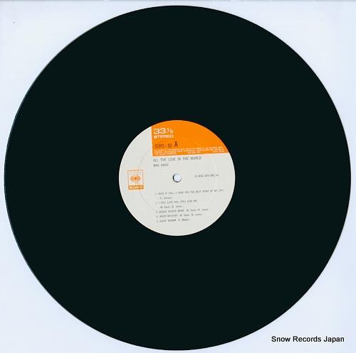 DAVIS, MAC all the love in the world SOPO92 - disc