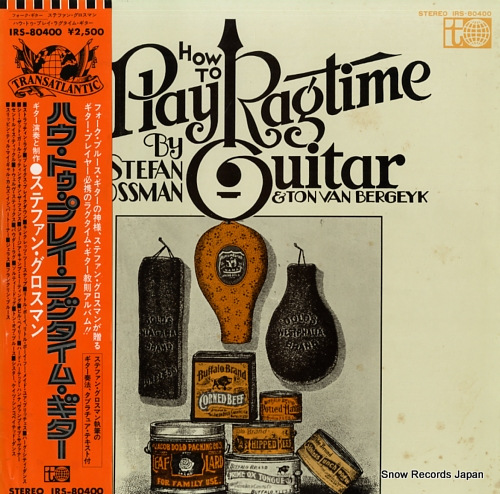 ステファン・グロスマン ハウ・トゥ・プレイ・ラグタイム・ギター IRS-80400