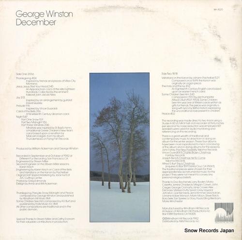 ジョージ・ウィンストン december WH-1025