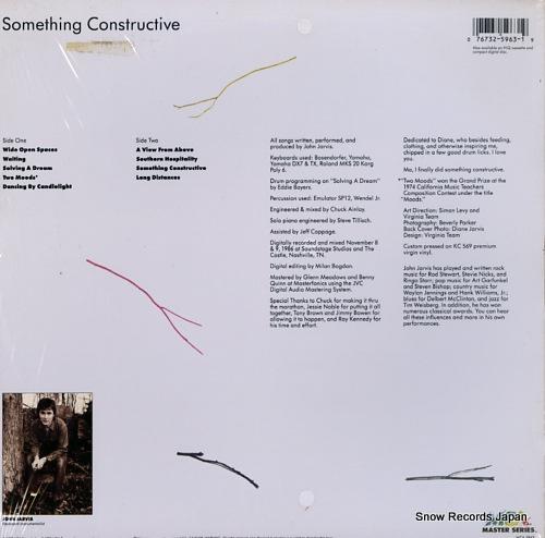 ジョン・ジャービス something constructive MCA-5963