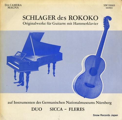 SICCA, MARIO, AND RITA FLERES schlager des rokoko SM93605 - front cover