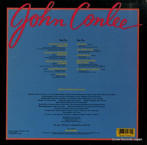 CONLEE, JOHN in my eyes MCA-5434 - back cover