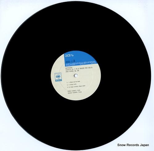 CASALS, PABLO beethoven; cello sonata no.3 & no.4 SOCU2 - disc