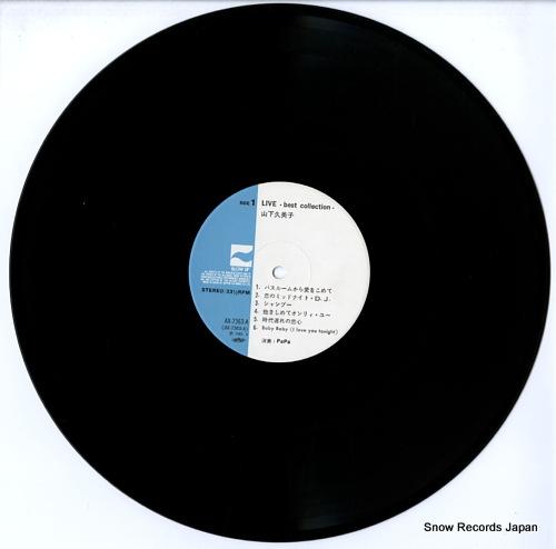 YAMASHITA, KUMIKO live best collection AX-7363-A - disc