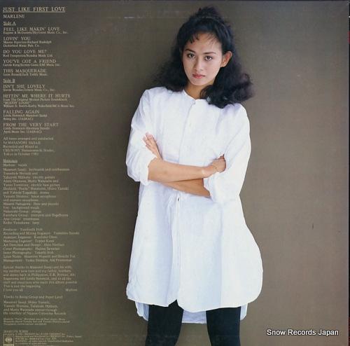 MARLENE just like first love 28AH1376 - back cover