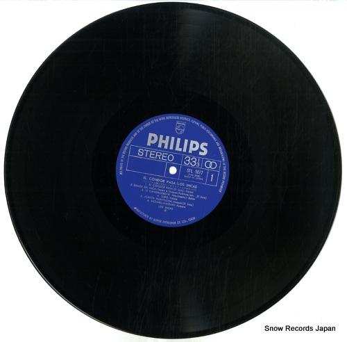 LOS INCAS musiques de la cordillere des andes SFL-9077-78 - disc