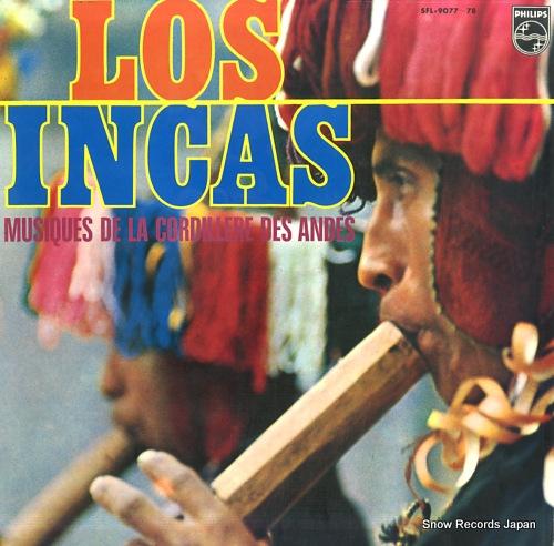LOS INCAS musiques de la cordillere des andes SFL-9077-78 - front cover